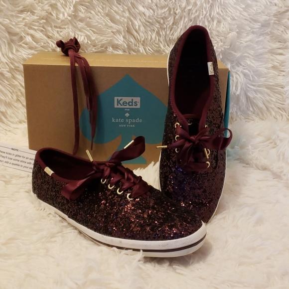 d7169c65794f kate spade Shoes - Keds Kate Spade Glitter Deep Cherry